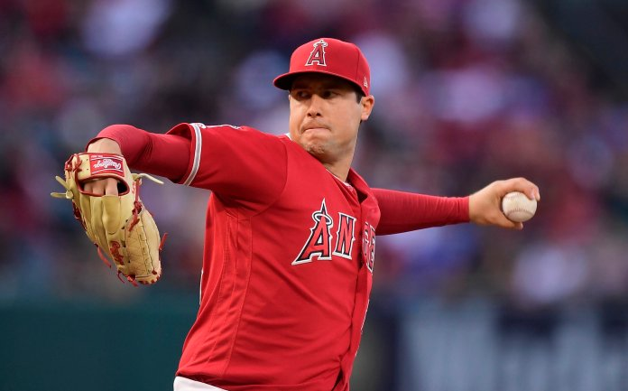 Eric Kay, a 24-year employee of the Angels' PR department, told the Drug Enforcement Agency he had provided opioids to Skaggs and used them with the pitcher for years, according to the ESPN report Saturday, Oct. 12, 2019. Kay reportedly watched as Skaggs snorted three lines of crushed pills in his hotel room in Texas, on the night before he was found dead.  AP Photo/Mark J. Terrill, File