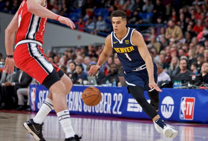 Michael Porter Jr. is back in the NBA after missing the last 571 days with a back injury. He was the projected No. 1 overall pick by fell to 14th due to the injury, so people seem to forget just how talented he is.  Photo from The Associated Press.