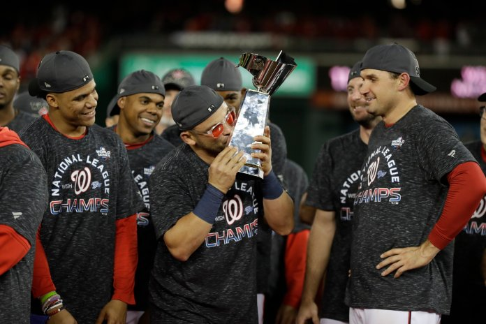 With the Nationals one step closer to bringing home their own trophy, it's almost time for regular season awards to be handed out, and with them comes a lot of controversy.  Photo from the Associated Press.