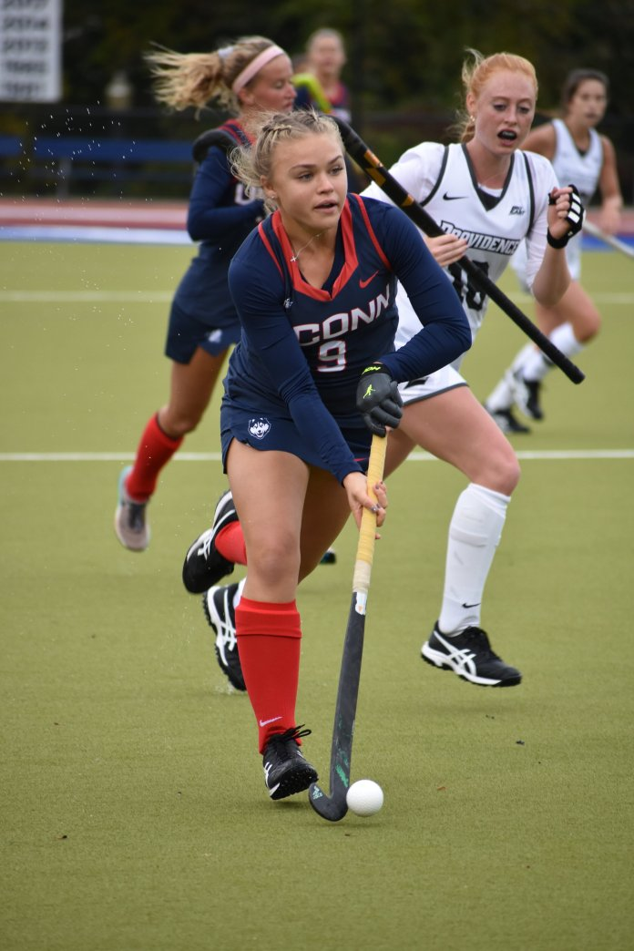 The UConn field hockey team is back home this weekend to face off against a pair of its biggest rivals in Villanova and Syracuse.  Photo by Sofia Sawchuk / The Daily Campus.