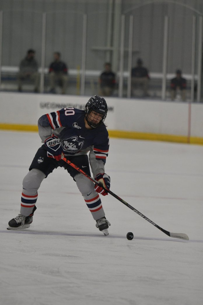 The UConn women's ice hockey team will attempt to keep their current win streak alive when they face off against BU and Merrimack this weekend.  Photo by Kevin Lindstrom / The Daily Campus.