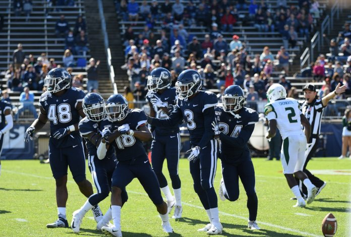 UConn football is hosting Houston at Rentschler Field this weekend as they celebrate homecoming weekend. This game carries a real chance for the Huskies to at least put up a fight in front of the home crowd.  Photo by Eric Wang / The Daily Campus.