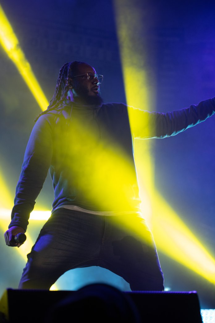 On Friday, Gamble Pavilion was filled with students to partake in First Night and the Fall Concert. Kemba Walker was in attendance to see the new teams and T-Pain performed for the night.  Photos by Charlotte Lao / The Daily Campus.