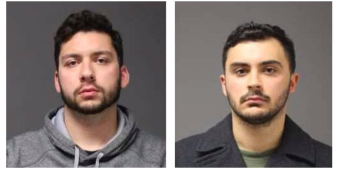 21-year-old Jarred Karal of Plainville, left, and 21-year-old Ryan Mucaj of Granby, right.  Photos courtesy of UConn Police Report
