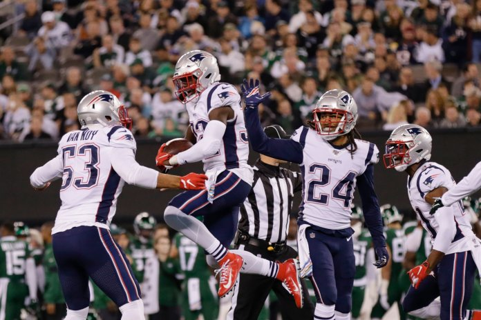 The Patriots are just one of two teams who remain undefeated to start the season, in large part due to their league-leading defense. Analysts are starting to wonder if this is the best defense in the history of the NFL.  Photo from the Associated Press.