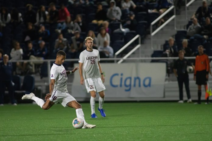 The Huskies are headed to Philadelphia to face off against the Temple Owls in their final stretch of conference matchups.  Photo by Kevin Lindstrom / The Daily Campus