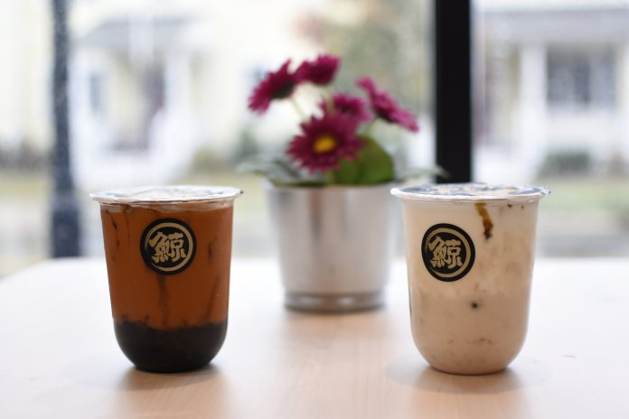 Whale Tea is a new bubble tea place in Storrs Center. They offer a variety of flavors like Thai milk tea, strawberry milk tea, taro milk tea and brown sugar milk tea.  Photo by Brandon Barzola/The Daily Campus