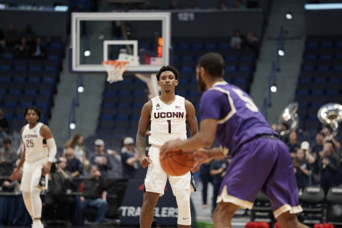 The team boasts a lot of energy this season, but Hurley said he wants to see more confidence from his guys to get their best performance.  Photo by Eric Wang / The Daily Campus.