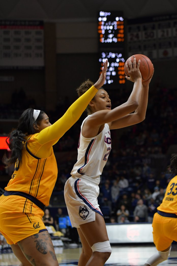 """""""It was a weird game,"""" head coach Geno Auriemma said. """"It just looked like we had a hard time getting any kind of continuity on the offensive end, it was really kind of a mish-mosh of things."""