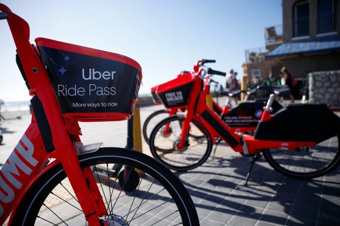 Uber continues to offer more options for consumers with little concern from larger tech companies for assistance to make a better, safer product.  Photo from the Associated Pres.