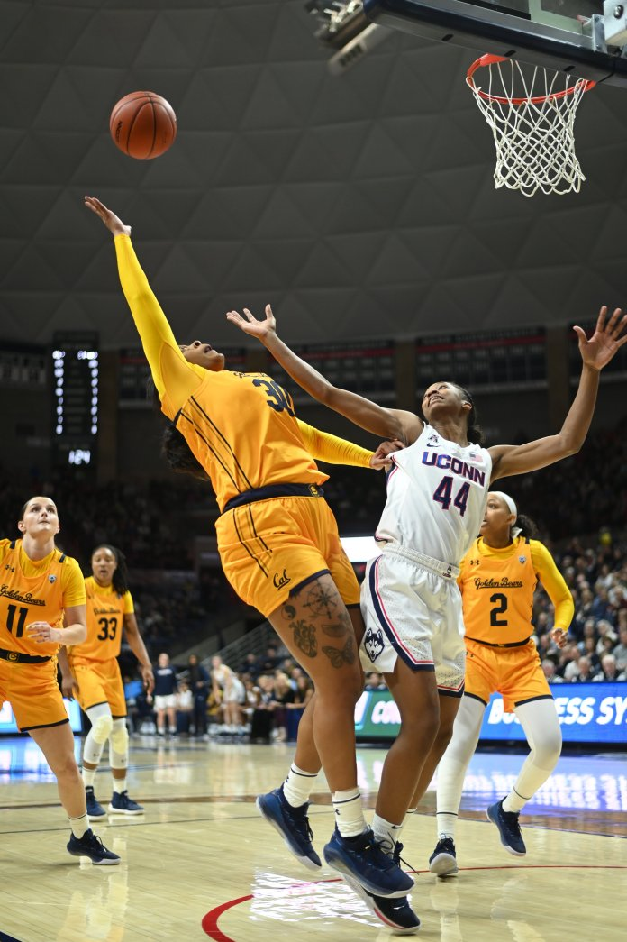 To start their season, the UConn Women's basketball team defeats California on Sunday, November 10 at Gampel Pavillion. Christyn Williams leads the team with 24 points.  Photos by Charlotte Lao / The Daily Campus
