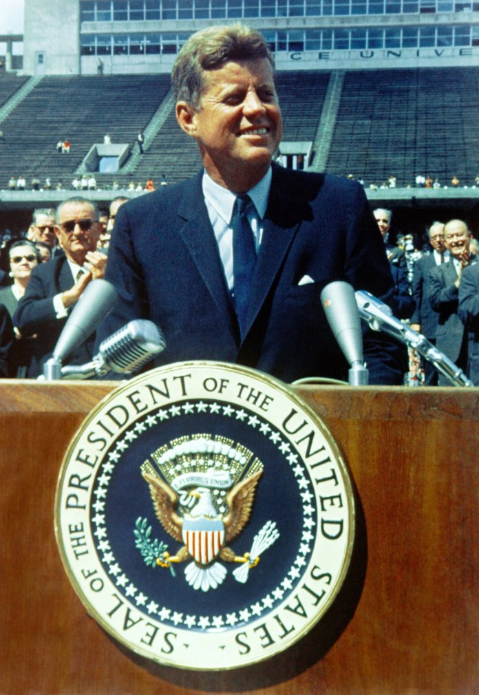 On Nov. 22, 1963, President John F. Kennedy was assassinated in Dallas, Texas.  Photo by    History in HD    on    Unsplash   .