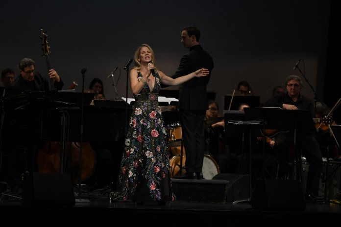 Broadway Stars Kelli O'Hara and Matthew Morrison perform musical numbers with a live orchestra at the Jorgensen Center for Performing Arts on Saturday, Nov. 16, 2019.  Photos by Judah Shingleton / The Daily Campus.