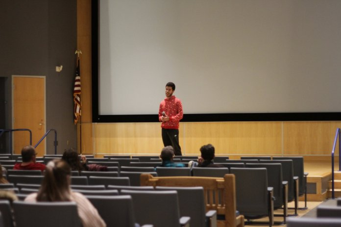 """UConn PIRG presents a screening of """"The True Cost,"""" a film documenting the effects fashion has on the environment. The screening was accompanied by UConn faculty to facilitate a discussion over how waste is increasingly degrading our environment.  Photo by Matt Pickett / The Daily Campus"""