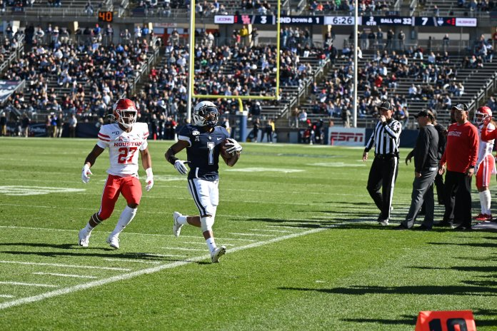 UConn's football team will be honoring 15 seniors in their final home matchup against ECU this weekend.  Photo by Eric Wang / The Daily Campus