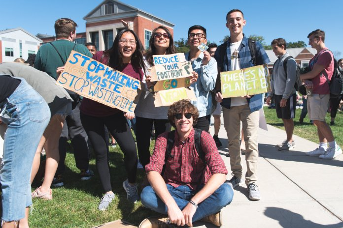 UConn partakes in the Global Climate Strike on Friday, Sept 20. Students skipped class and joined a march to the President's office.  Photo by Charlotte Lao/The Daily Campus