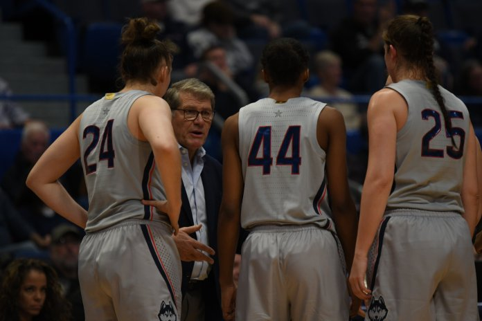 UConn's women's basketball team is headed to Ohio to face off against Ohio State this weekend after a successful trip to Virginia.  Photo by Judah Shingleton / The Daily Campus.