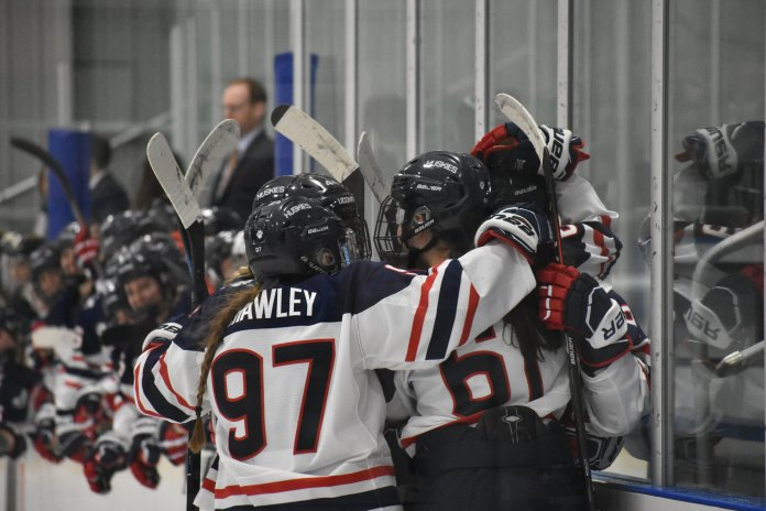 The UConn women's hockey team has their toughest matchup of the year as they head to Chestnut Hill to take on BC Friday.  Photo by Sofia Sawchuk / The Daily Campus.