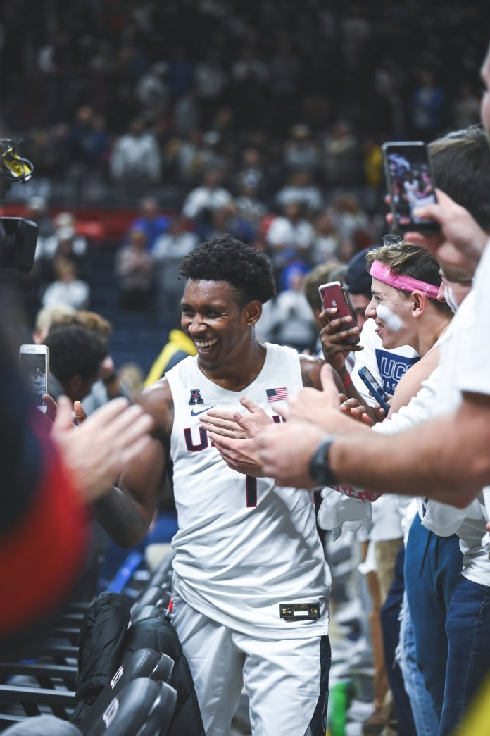 The UConn Men's Basketball team played against the Florida Gators on Nov. 17.  Photo by Charlotte Lao/The Daily Campus.