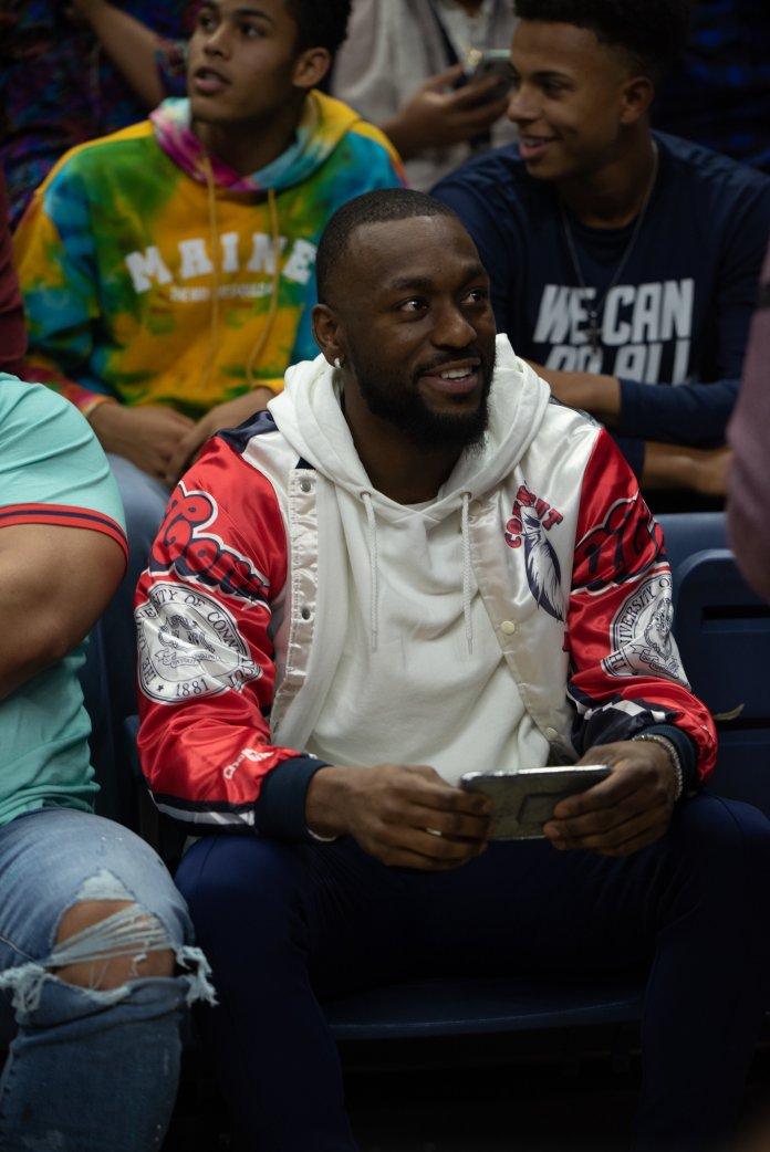 Gampel Pavilion was filled with students to partake in First Night and the Fall Concert. Kemba Walker was in attendance to see the new teams and T-Pain performed for the night.  Photo by Charlotte Lao/The Daily Campus