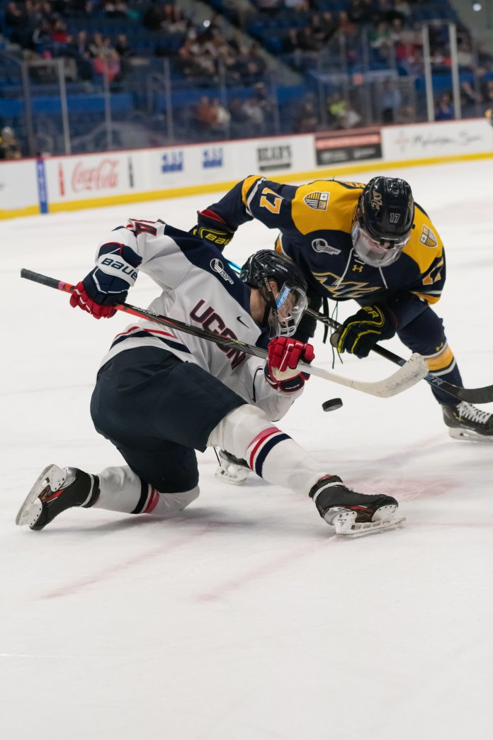UConn came up with a big win against Northeastern last weekend. Up next is the first annual Connecticut Ice Tournament beginning this Friday.  Photo by Kevin Lindstrom/The Daily Campus.