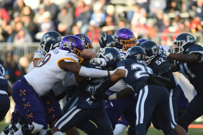 UConn football had another disappointing season in 2019. As a result lots of Huskies have decided to enter the transfer portal.  Photo by Eric Wang / The Daily Campus.