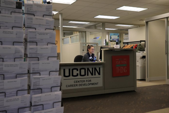 The college and career center located in Wilbur Cross offers information on how to apply for internships. This is a great resource for students looking to jumpstart their careers.  Photo by Erin Knapp/The Daily Campus