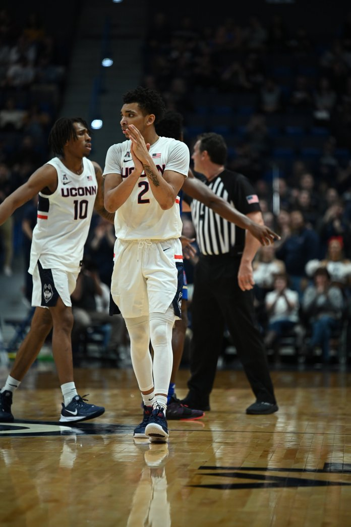 The Huskies suffer a 79-75 overtime defeat at the hands of the Tulsa Golden Hurricane Sunday afternoon in the XL Center. UConn failed to capitalize on many scoring opportunities, but pulled through in key moments during the game.  Photo by Kevin Lindstrom, Staff Photographer/The Daily Campus