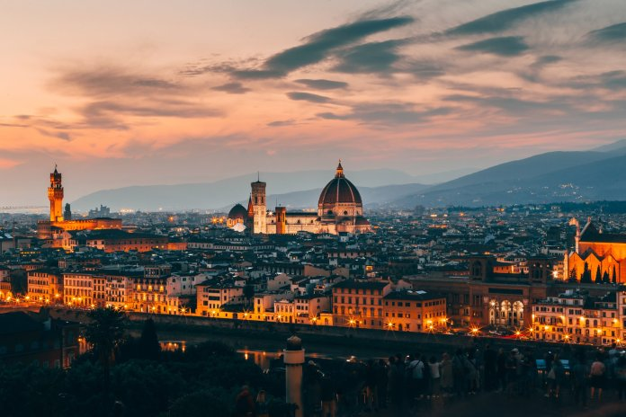 A picture of the beautiful Florence skyline. The weather in Florence is significantly warmer than UConn this time of year. Photo by  Josh Hild  from  Pexels