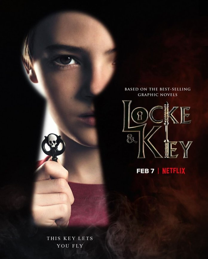 A teaser image for the new Netflix series Locke and Key. Season one will be released on February 7th.  @lockeandkeynetflix
