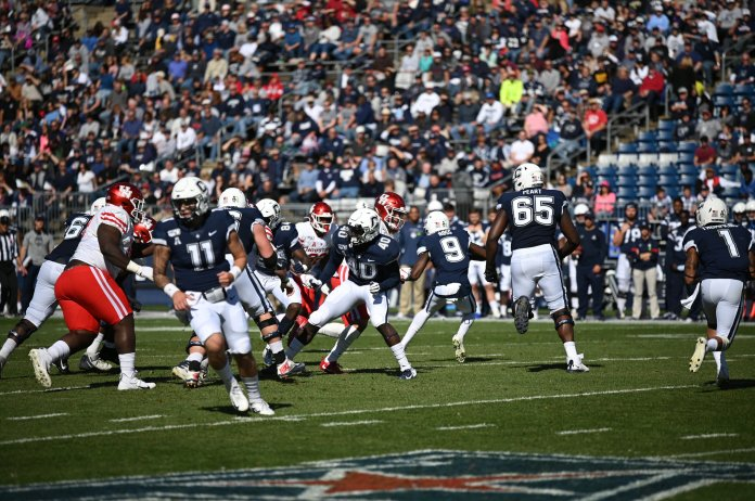 Former UConn player Matt Peart was one of 337 prospect selected to take part in the NFL Combine. He will get a chance to practice and play in front of professional teams to showcase his talent before the draft.  Photo by Eric Wang / The Daily Campus.