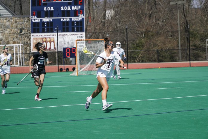 UConn women's lacrosse is back in action Wednesday as they take on Fairfield University. They struggled last season going just 3-14 but are hopeful to have a bounce back season.  Photo by Eric Wang / The Daily Campus.