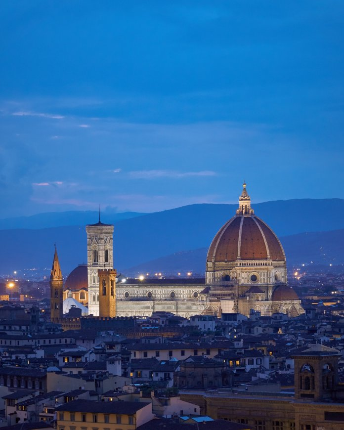 A photo of the Florence Cathedral at Night. Photo by  Mark Boss  on  Unsplash