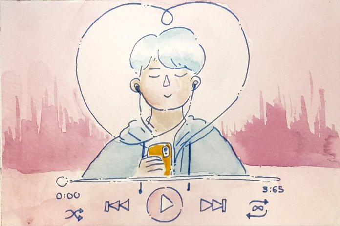 You'll be feeling like a sexy single after tuning into this playlist.  Illustration by Kaitlyn Tran