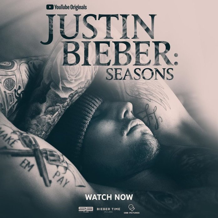 An advertisement for Justin Bieber's docuseries 'Seasons.' Justin Bieber recently released a YouTube docuseries that tells the story of Bieber in 10 episodes.  @justinbieber