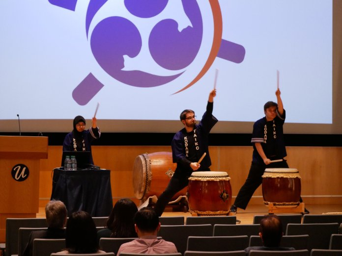 UConn Kodama Taiko performed at UConn's Japanese Day of Remembrance event.  Photo by Laila Almotwaly/The Daily Campus