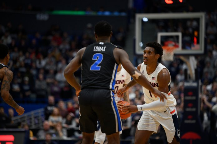 It was Whaley who turned the tide in the Huskies' favor in the second half when he converted an and-1 opportunity at the 16:05 mark to bring his team within two points.