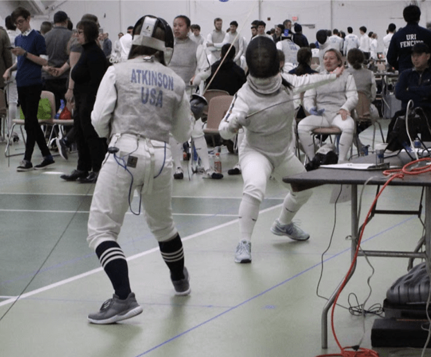 The men beat URI, UNH and UMass in many events while the women earned wins over Mount Holyoke, Sacred Heart and Stony Brook. Next up for Club Fencing is a trip to the National Club Fencing Championships in a month.  Photo by Sam Zelin/The Daily Campus.