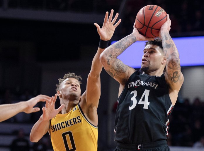 Cininnati was the big winner of the past week, winning against Wichita State to earn a vital three conference points. The Bearcats now sit atop the American Athletic Conference.  Photo by Albert Cesare/AP.