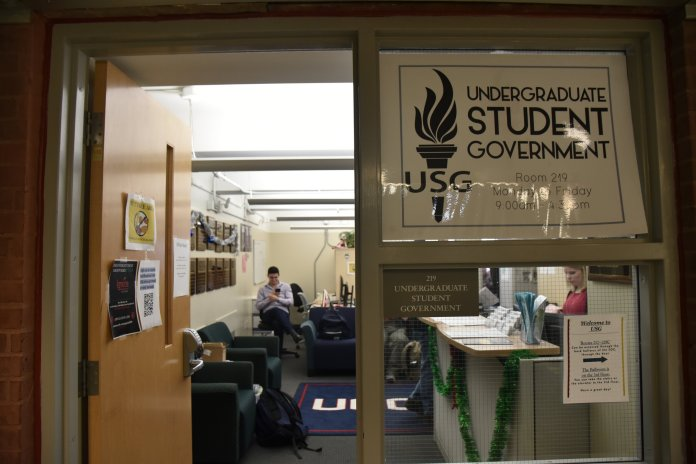 """A photo of the Undergraduate Student Government (USG) Office in the Student Union. The """"Jars of Self-Acceptance"""" event was hosted by USG.  The Daily Campus / Eric Wang"""