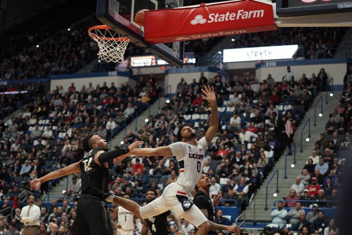 The Huskies took another home win, this time against UCF with a final score of 81-65. Senior night will be week next week on March 5, against University of Houston.  Photo by Eric Wang/The Daily Campus