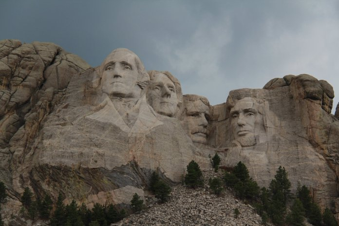 A photo of Mount Rushmore. Thomas Jefferson is one of four presidents carved into Mount Rushmore.  Photo by   May   on   Unsplash