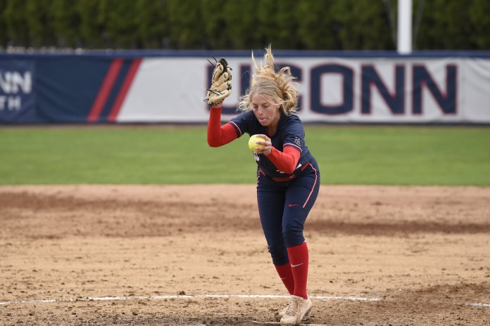 UConn softball competed in the Capital Classic in Virginia this weekend. They won two games in convincing fashion while also dropping two close ones.  Photo by Brandon Barzola/The Daily Campus.