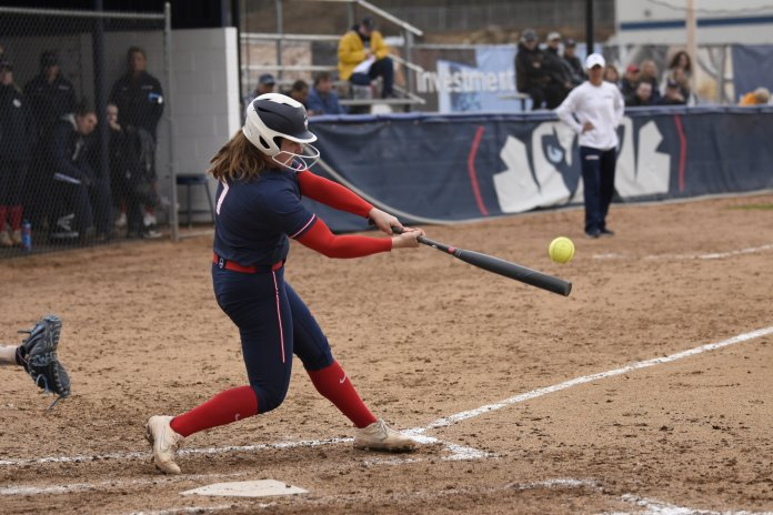 The Huskies started off the weekend with a 10-1 win over Santa Clara. The team's offense was rolling all five games, knocking in 35 runs over that span.  Photo by Brandon Barzola/The Daily Campus.