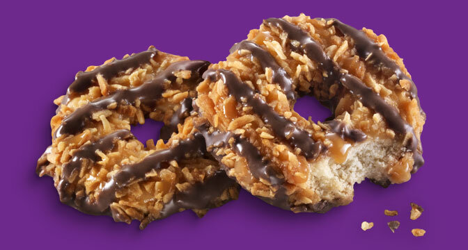 Samoa cookies pictured above. Campus correspondent Ian Ward believes that Thin Mints lack the flavor the Samoas pack.  Image courtesy of    girlscouts.org