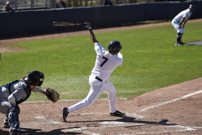 The Huskies are coming off a weekend where they lost two of three games to the University of New Orleans, struggling with their control on the mound for most of the series.  Photo by Brandon Barzola/The Daily Campus