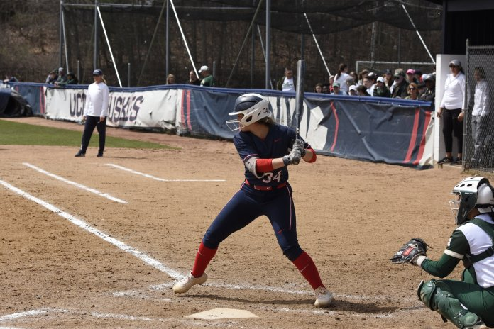 UConn softball's next game is against Hofstra in New York. The team has won five of its last six games en route to the team's best start since 1992.  Photo by Brandon Barzola/The Daily Campus.