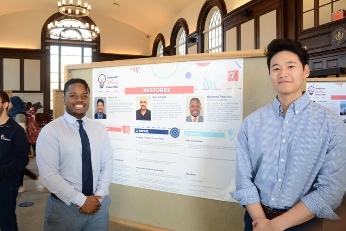 Fifteen teams competed in the UConn's Innovate Wellness Challenge last week, proposing ideas to lower mental health issues on campus.  Photo by Wesley Nyambi/The Daily Campus.