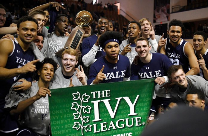 '  The Ivy League canceled its men's and women's basketball tournaments on Tuesday because of concerns about the spread of coronavirus.  Photo by Jessica Hill/AP