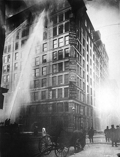 Nearly 109 years ago, the Triangle Shirtwaist Factory went up in flames. 146 workers were killed in what is known as one of the worst fire disasters in history.  Photo courtesy of wikipedia.com